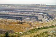 Strip mining lignite at Tagebau Garzweiler near Grevenbroich, Germany