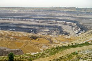Lignite - Strip mining lignite at Tagebau Garzweiler in Germany