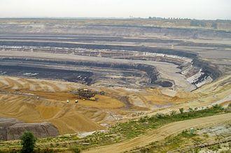 Lignite - Strip mining lignite at Tagebau Garzweiler in Germany