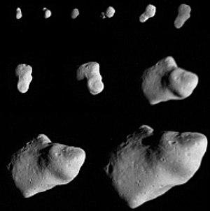 951 Gaspra - Successive images of a rotating Gaspra