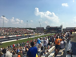 Gateway Motorsports Park - Gateway's drag strip during the 2016 NHRA Midwest Nationals.