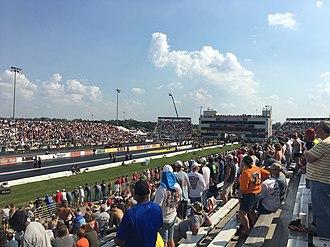 Gateway Motorsports Park - Gateway's drag strip during the 2016 NHRA Midwest Nationals.
