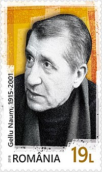 Gellu Naum 2018 stamp of Romania.jpg