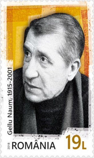 Gellu Naum - Naum on a 2018 stamp of Romania
