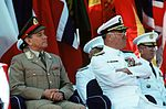 Gen. Vigleik Eide listens to a speaker during the change of command ceremony at which Kelso relinquishes his position as Commander in Chief, U.S. Atlantic Command, to Adm. Leon A. Edney.jpg