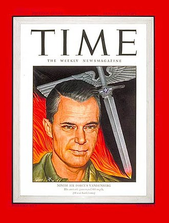 Hoyt Vandenberg - On the January 15, 1945, cover of Time magazine