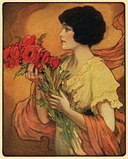 Julia; frontispiece of a 1922 New York publication of Gentle Julia, by Booth Tarkington