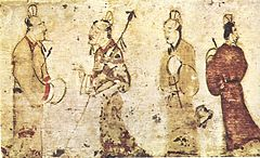 Gentlemen in conversation, Eastern Han Dynasty.jpg