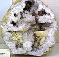 Geode with sphalerite, barite, dolomite, and quartz (Monroe County, Ohio, USA) 1 (32491061231).jpg
