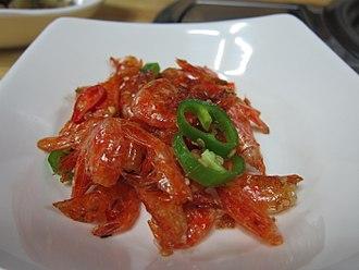 Dried shrimp - Geon-saeu-bokkeum (stir-fried dried shrimps)