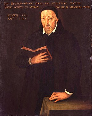 George Buchanan - George Buchanan by A Bronckorst, 1581 (National Gallery of Scotland).