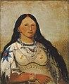George Catlin - Mi-néek-ee-súnk-te-ka, Mink, a Beautiful Girl - 1985.66.133 - Smithsonian American Art Museum.jpg