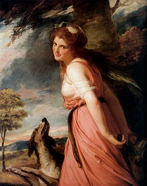 1785 in art - Romney – Emma Hart as a Bacchante