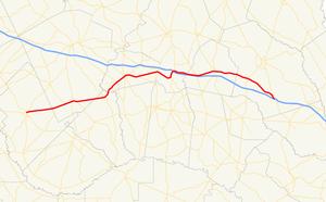 Georgia State Route 46 - Image: Georgia state route 46 map