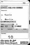 Germanwings - boarding pass 4U 012 Cologne-Berlin 2004-03-21.jpg