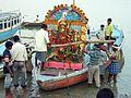 Ghat in Varanasi (2161935462).jpg