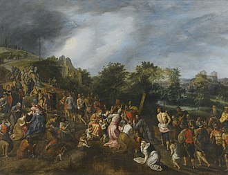 Gillis Mostaert - Christ on the road to Calvary