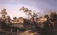 Giovanni Antonio Canal, il Canaletto - View of a River, Perhaps in Padua - WGA03933.jpg