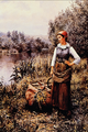 Girl by a Stream - Daniel Ridgeway Knight.png