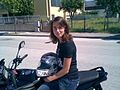 Girl on Honda CBF 125 - 01.jpg