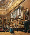 Giuseppe Castiglione - View of the Grand Salon Carré in the Louvre (detail) - WGA4553.jpg