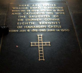 Catherine Gladstone - William and Catherine Gladstone's grave in Westminster Abbey