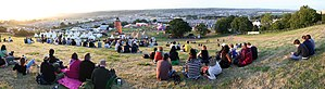 View over the Glastonbury Festival, taken on W...