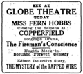 Globe Theatre ad, Oregon Journal 1914.png