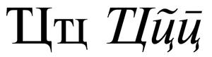 Te Tse (Cyrillic)