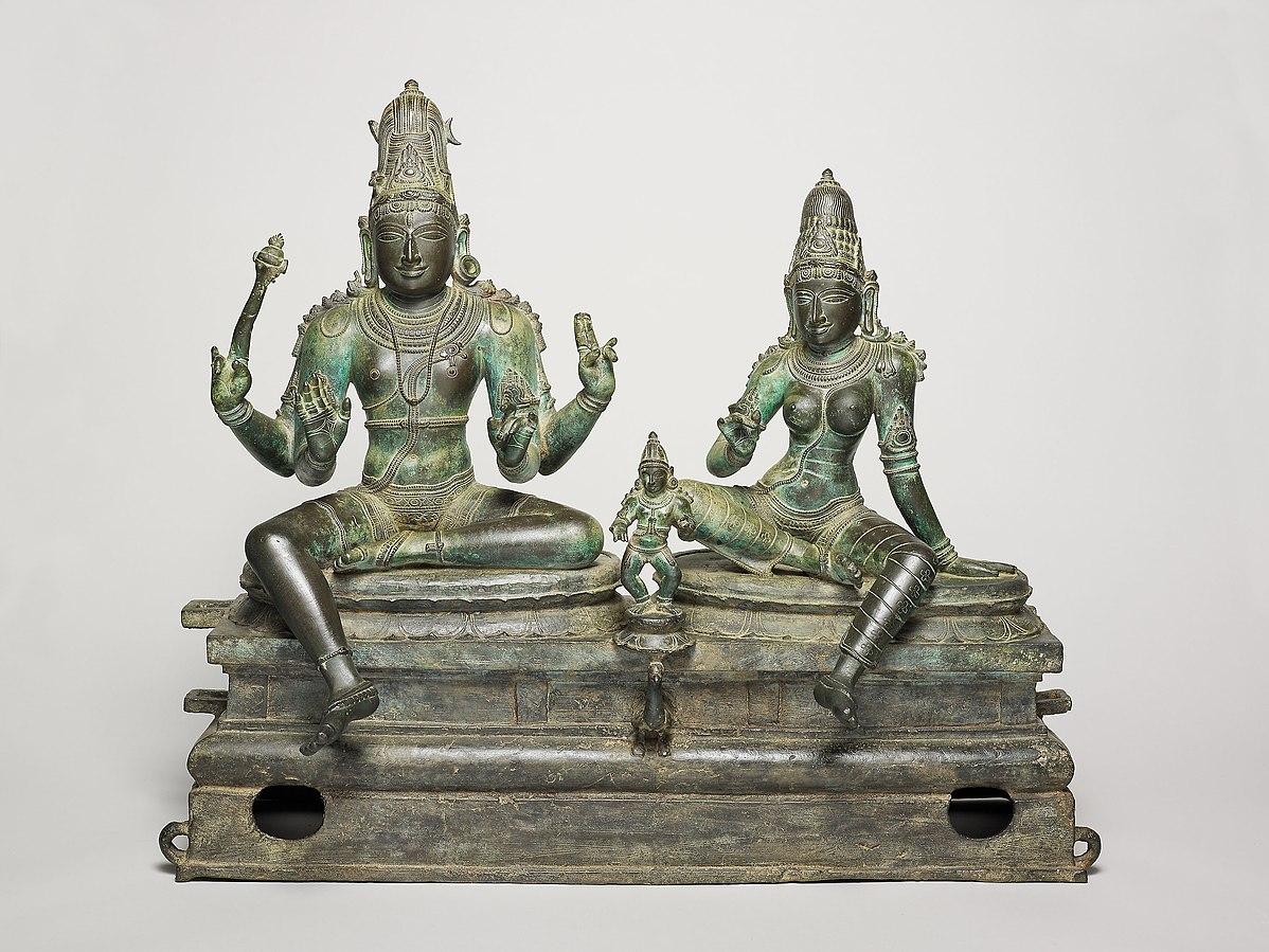 God Shiva and Goddess Uma Seated with Their Son, Skanda (Somaskanda)