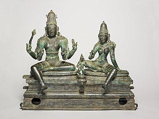 God Shiva and Goddess Uma Seated with Their Son, Skanda (Somaskanda)