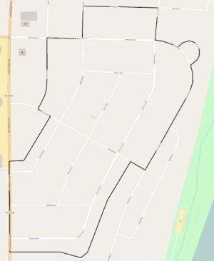 Gold Coast Historic District (Richland, Washington) - Image: Gold Coast Historic District map, Richville, WN