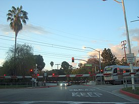 Gold Line Crossing Fremont Ave.JPG