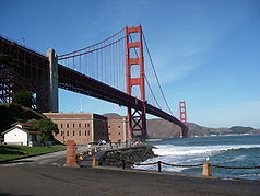 Fort Point, das Golden Gate und die Golden Gate Bridge