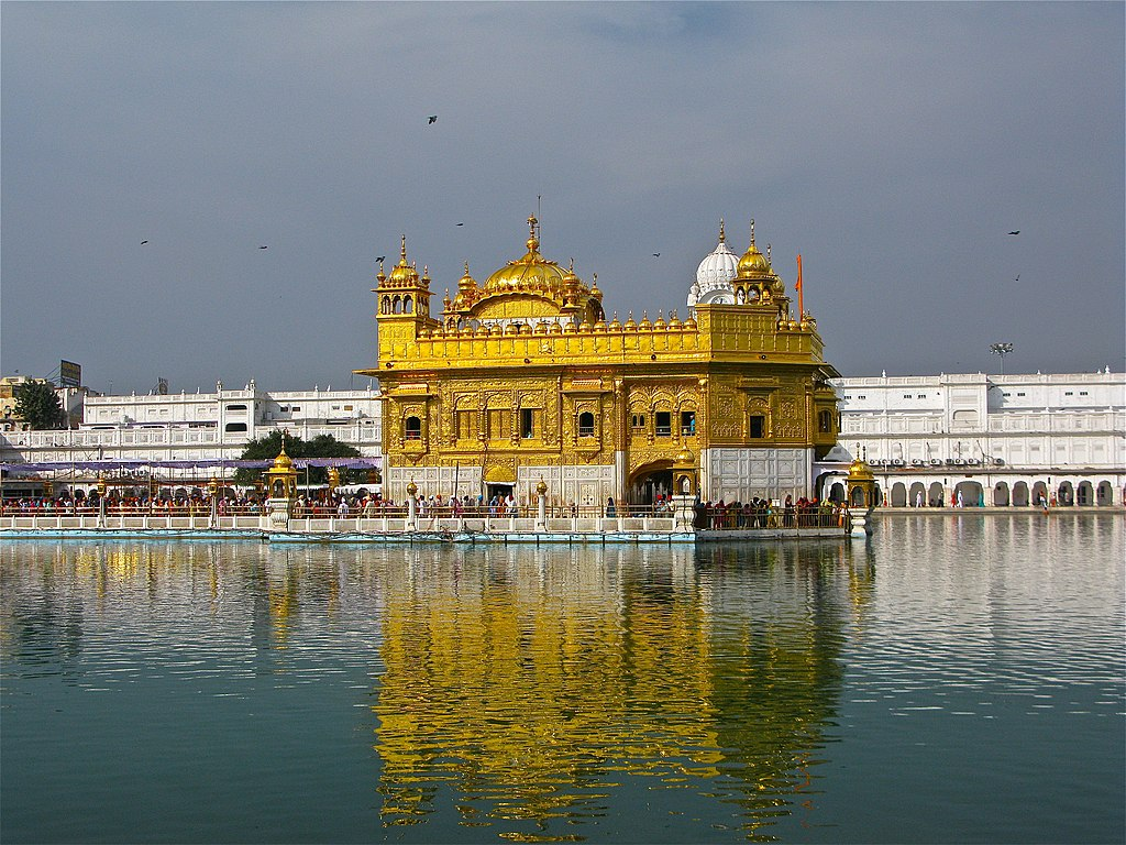 file:golden temple reflecting in the sarovar, amritsar