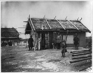 Amur River - Goldi village along the Amur River, north of Khabarovsk, 1895