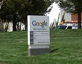 Schüdl baim Fiamensiz fu Google in Mountain View