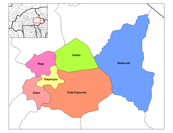 Diapangou Department location in the province