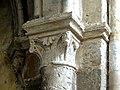 Gournay-en-Bray (76), collégiale St-Hildevert, collatéral sud du chœur, chapiteau de l'arcade vers le transept, côté sud.jpg