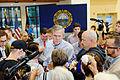 Governor of Florida Jeb Bush at TurboCam, Barrington, NH 1 on August 32th by Michael Vadon.jpg