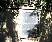 Elisa von der Reckes Grab auf dem Inneren Neustädter Friedhof in Dresden (Quelle: Wikimedia)