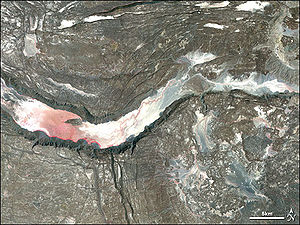 Great Rift Valley - Satellite image of a graben in the Afar Depression
