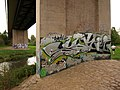 Graffiti, Obridge viaduct - geograph.org.uk - 1025531.jpg