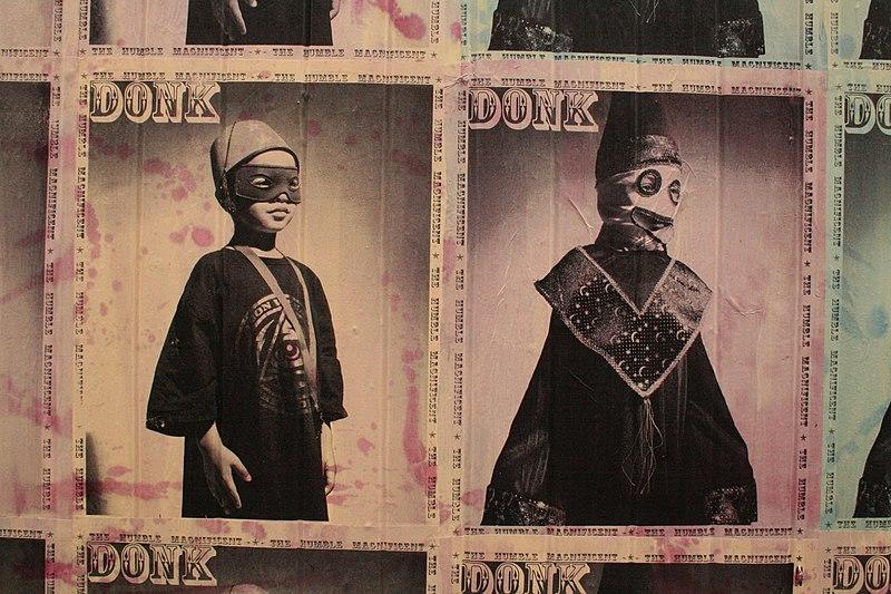 Affiche de Donk à Londres, toujours à Shoreditch.