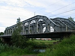 Vierendeel bridge at Grammene, Belgium