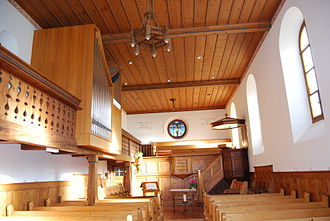 Grandval, Switzerland - Interior of Grandval parish church