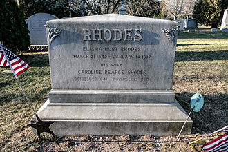Elisha Hunt Rhodes - Grave of Elisha Hunt Rhodes in Swan Point Cemetery, Providence, RI.