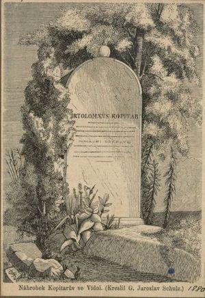 Jernej Kopitar - Tombstone of Jernej Kopitar in Vienna, later moved to the Navje cemetery in Ljubljana.
