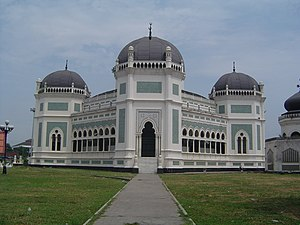 Great Mosque of Medan - front side of the mosque