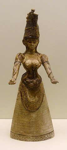 Minoan Snake Goddess with tall headpiece